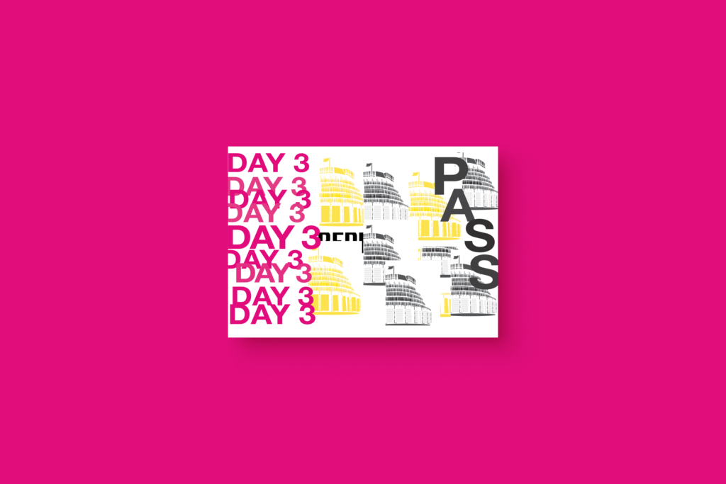pink ticket with type